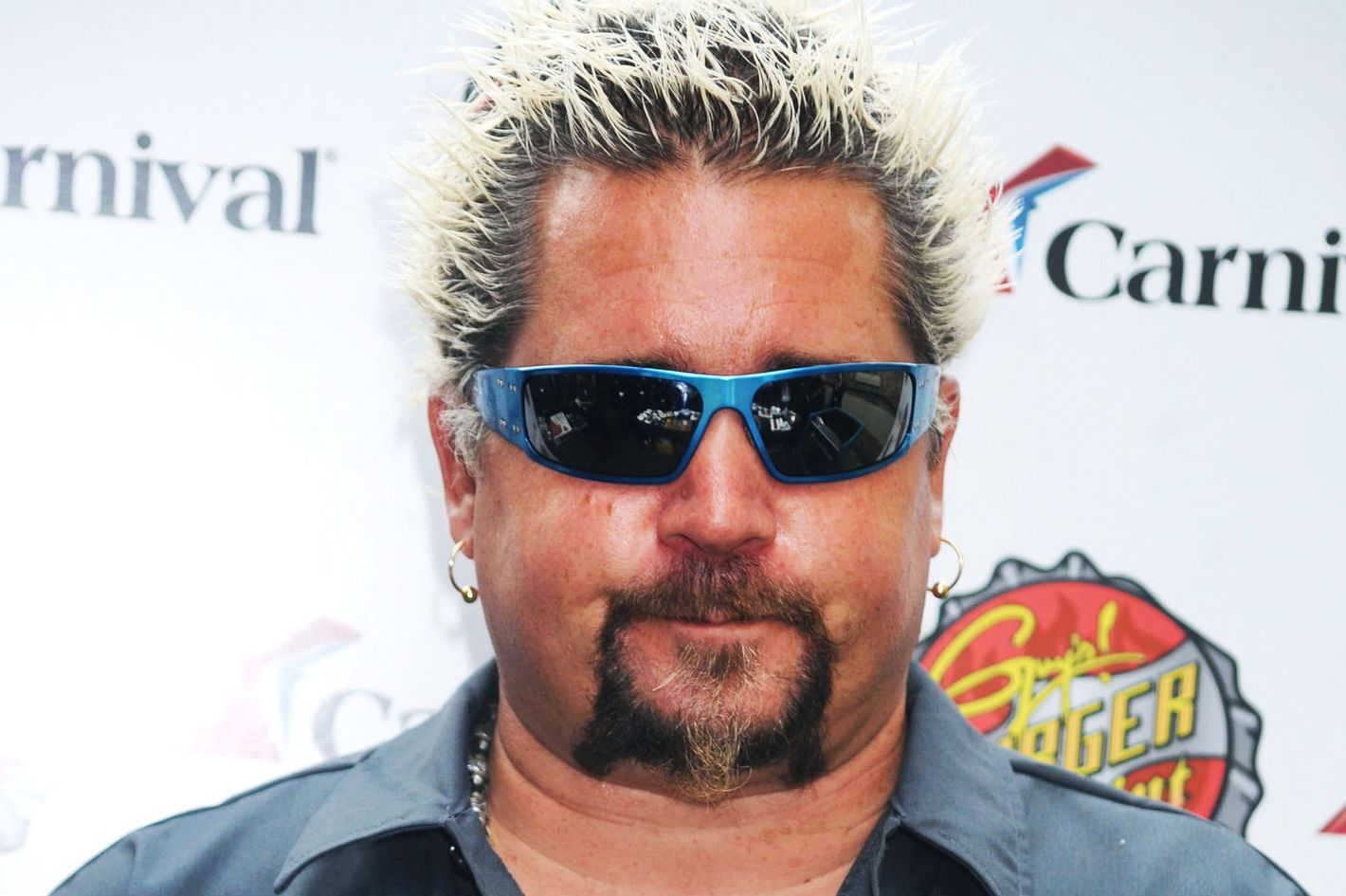 Guy Fieri and George Lopez at the Carnival Cruise Lines Press Conference in New York City. <P> Pictured: Guy Fieri  <P> <B>Ref: SPL320359  031011  </B><BR/> Picture by: Splash News<BR/> </P><P> <B>Splash News and Pictures</B><BR/> Los Angeles:310-821-2666<BR/> New York:212-619-2666<BR/> London:870-934-2666<BR/> photodesk@splashnews.com<BR/> </P>