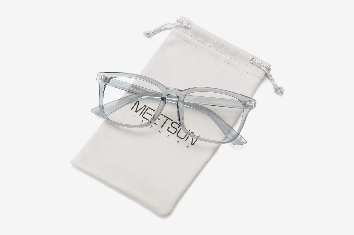 MeetSun Blue Light Blocking Computer Reading Glasses UV400 Transparent Lens