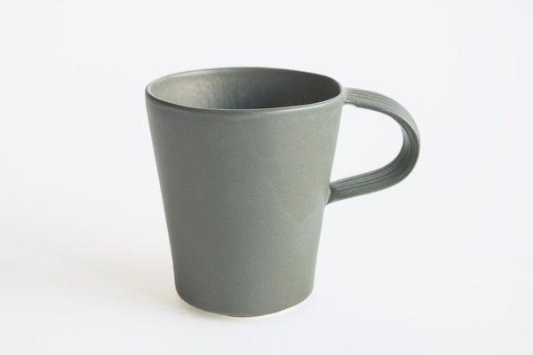 Natalie Weinberger Pleat Mug Dark Green