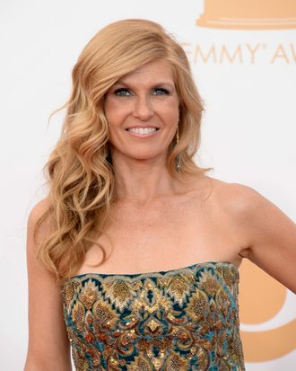 Actress Connie Britton arrives at the 65th Annual Primetime Emmy Awards held at Nokia Theatre L.A. Live on September 22, 2013 in Los Angeles, California.