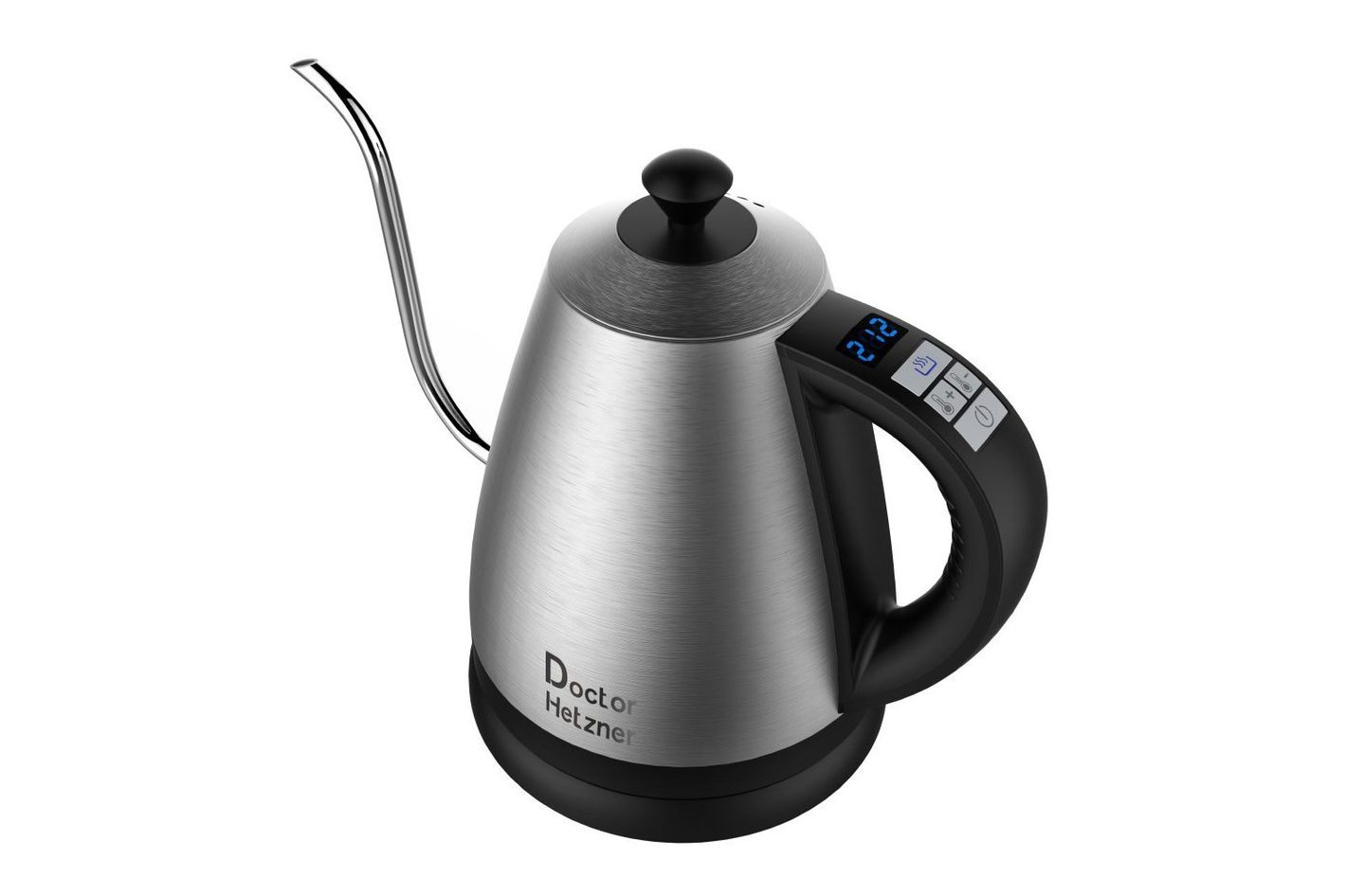 Electric Gooseneck Kettle With Preset Variable Heat Settings, 1.2L