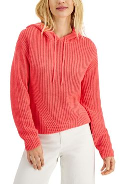 Style & Co Ribbed Hoodie Sweater