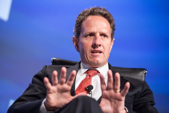"WASHINGTON, DC - MAY 15:  U.S. Treasury Secretary Timothy Geithner speaks at the 2012 Fiscal Summit on May 15, 2012 in Washington, DC. The third annual summit, held by the Peter G. Peterson Foundation, explored the theme ""America's Case for Action."" (Photo by Brendan Hoffman/Getty Images)"