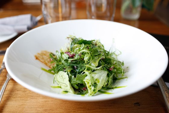 Salade du marche with seasonal herbs.