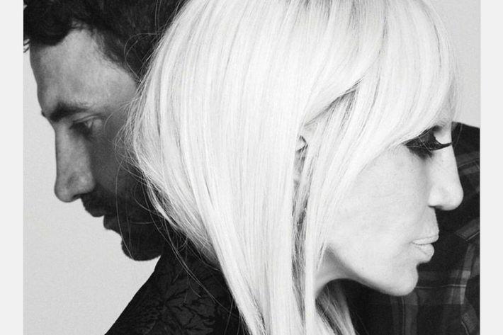 Riccardo Tisci and Donatella Versace.