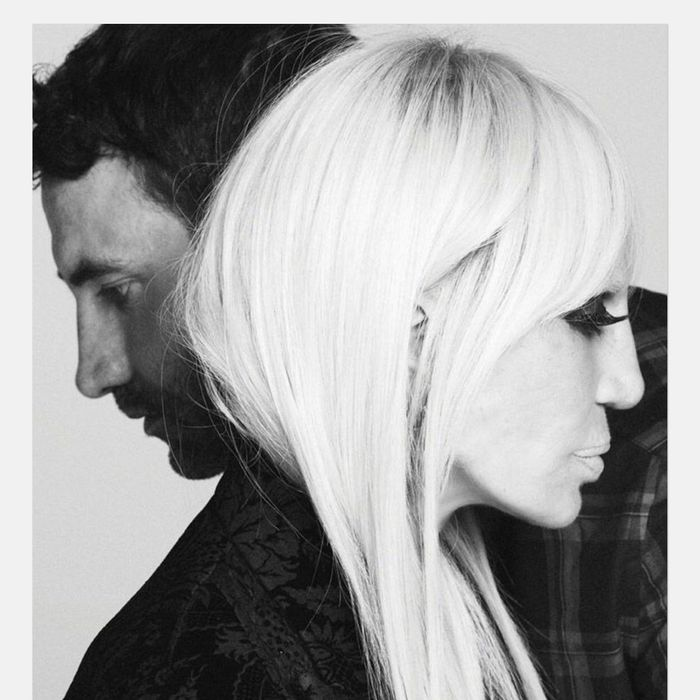 Riccardo Tisci and Donatella Versace.
