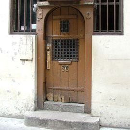The famous door, with its old, humdrum paint job.