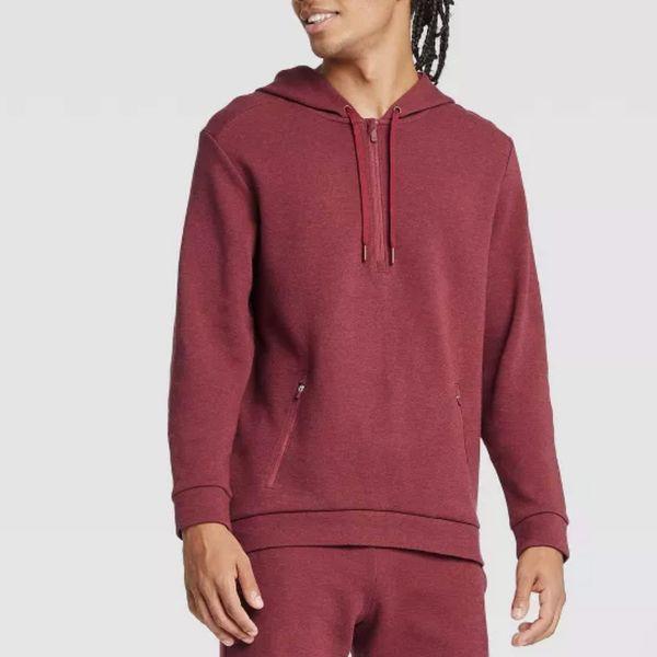 Target All in Motion Men's Premium Fleece 1/4 Zip Hoodie