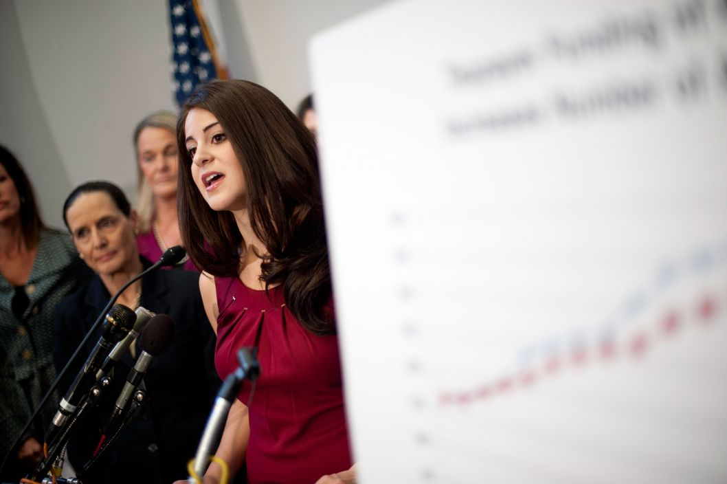 Feb 10, 2011 - Washington, District of Columbia, U.S. -  LILA ROSE, president of the conservative pro-life group Live Action, speaks to reporters Thursday on Capitol Hill about recent undercover videos it made of a Planned Parenthood employee, which they say shows them offering counseling to a ''pimp'' about getting abortions and testing for his sex workers.