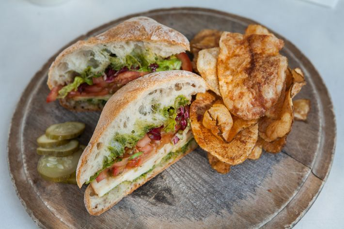 The brand-new tomato sandwich at Peels.