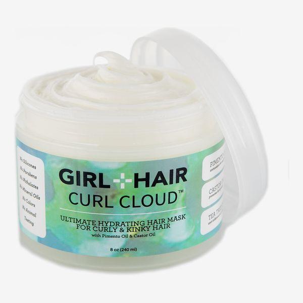 Girl+Hair Curl Cloud Mask