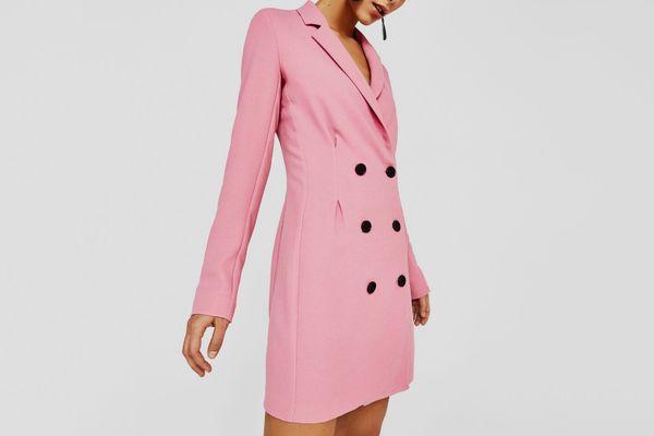 Blazer Style Crossover Dress