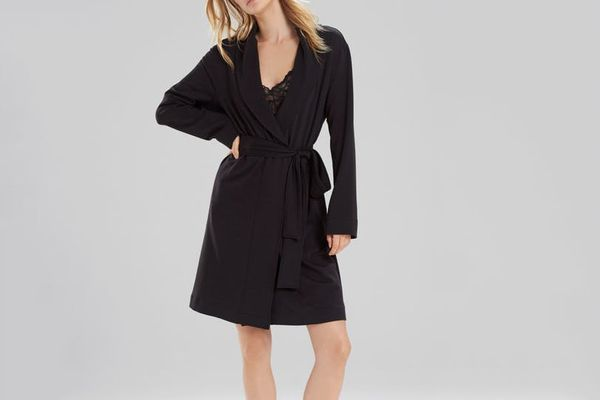 Natori Brushed Knit Wrap Style Robe