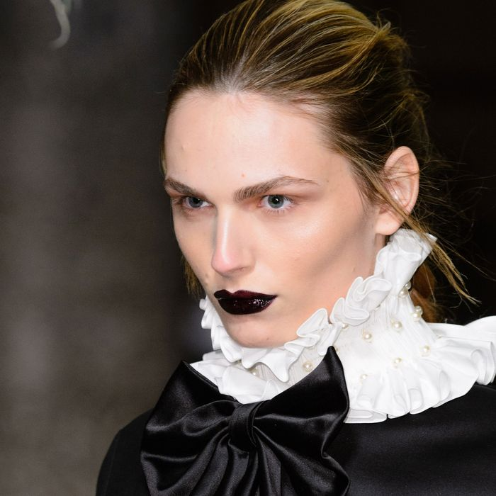 Black lipstick at the Giles show in London.