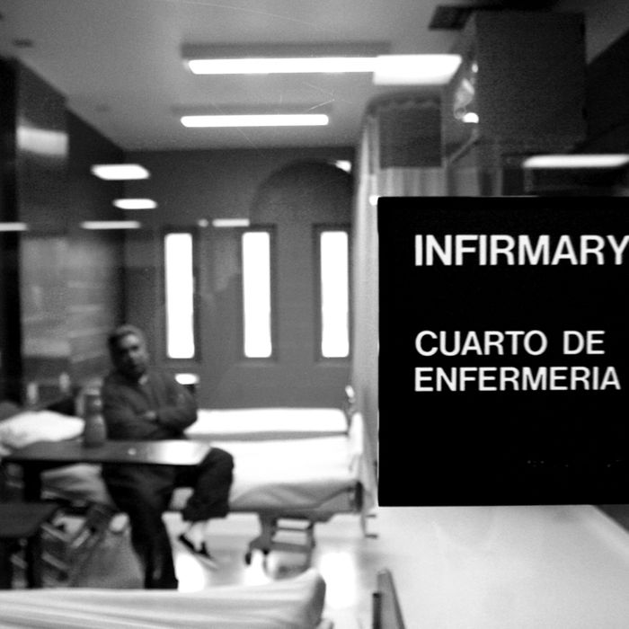 The infirmary at Port Isabel detention facility.