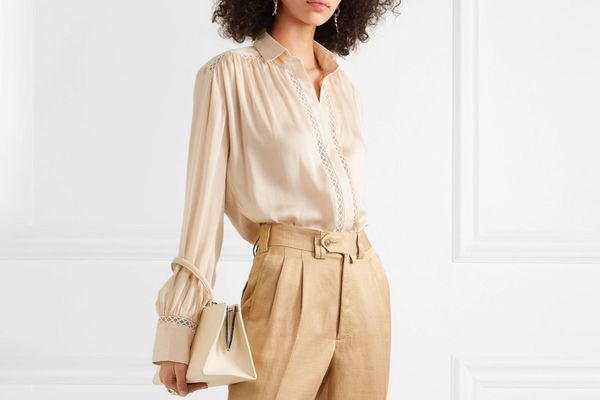 Arjé Celia Georgette and Linen Shirt