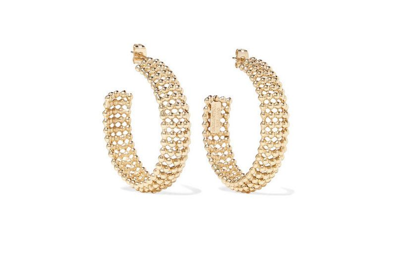Rosantica Vita gold-tone hoop earrings