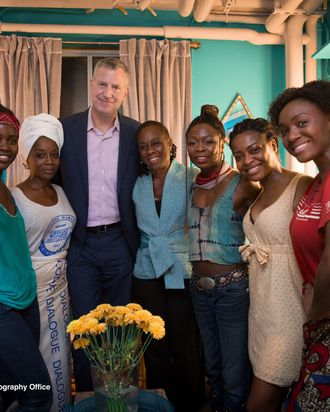 Mayor Bill de Blasio, First Lady of New York City Chirlane McCray, Elclipsed, Broadway