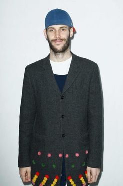 PARIS, FRANCE - MARCH 03: Simon Porte Jacquemus attends the Gaia Repossi's Jewelry Collection launch at Jeu de Paume as part of the Paris Fashion Week Womenswear Fall/Winter 2014-2015 on March 3, 2014 in Paris, France.  (Photo by Julien Hekimian/Getty Images)