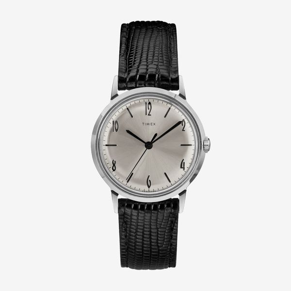 Timex Marlin Hand-Wound Leather Strap Watch