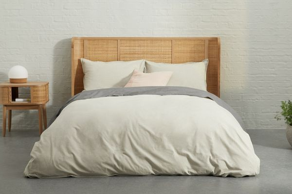 MADE Monroe Eco Brushed Cotton Duvet Cover + 2 Pillowcases, Double