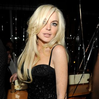Lindsay Lohan== VISIONAIRE Party== The Top of the Standard, NYC== September 14, 2011== ?Patrick McMullan== Photo - CLINT SPAULDING/PatrickMcMullan.com== ==