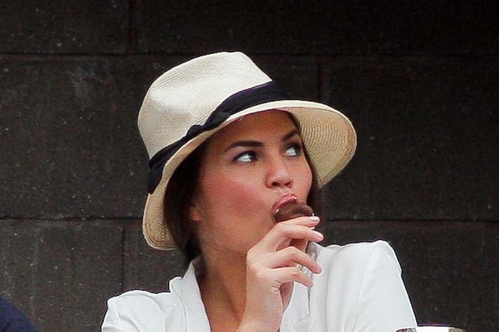 Chrissy Teigen, at last year's Open.