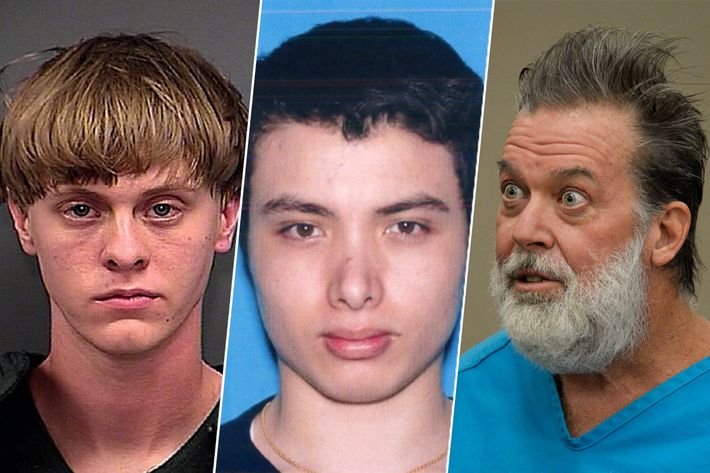 Dylann Roof, Elliot Rodger, Robert Lewis Dear