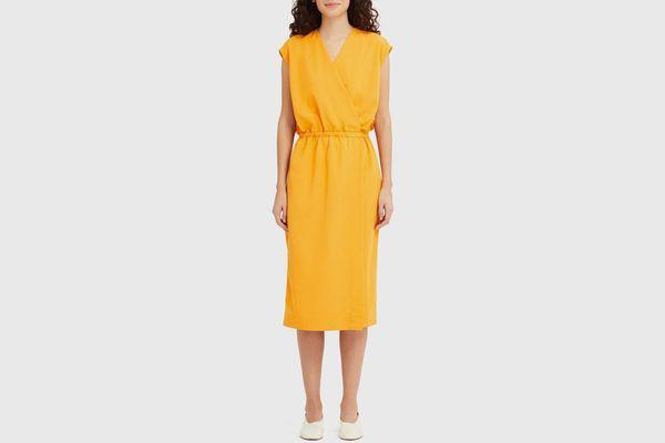Women U Wrap Sleeveless Dress
