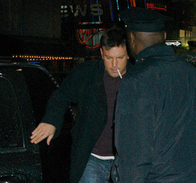 Ben Affleck smoking and Liv Tyler at MTV in NYC