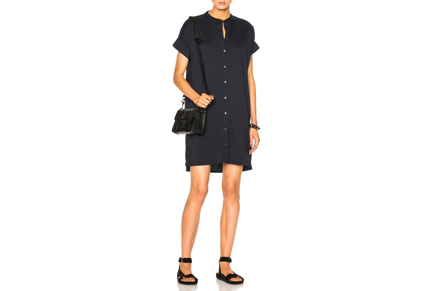 James Perse Rolled Shirt Dress