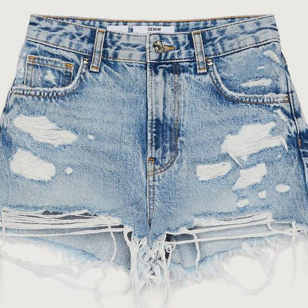 Bershka Denim Shorts With Rips