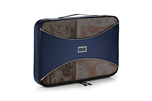 PRO Packing Cubes Lightweight Travel (Marine Blue, Large)