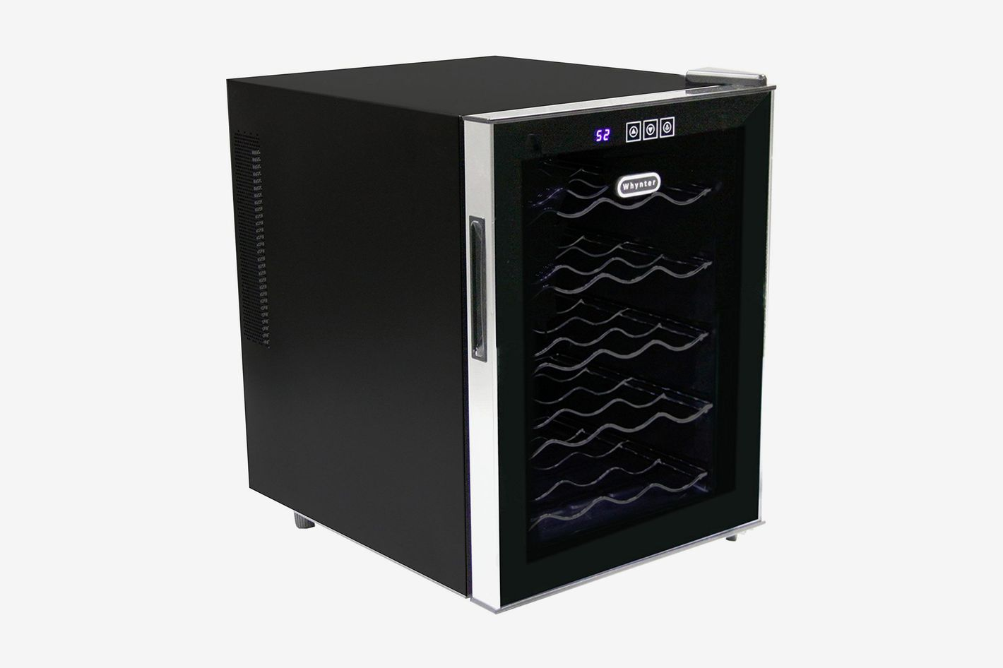 Whynter 20-Bottle Thermoelectric Wine Cooler With Black Tinted Mirror Glass Door