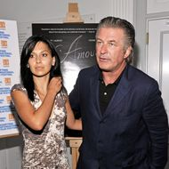 "EAST HAMPTON, NY - AUGUST 19:  Hilaria Thomas and actor Alec Baldwin attend the 2011 Hamptons International Film Festival screening of ""L'Amour Fou"" at Guild Hall on August 19, 2011 in East Hampton, New York.  (Photo by Mike Coppola/Getty Images)"