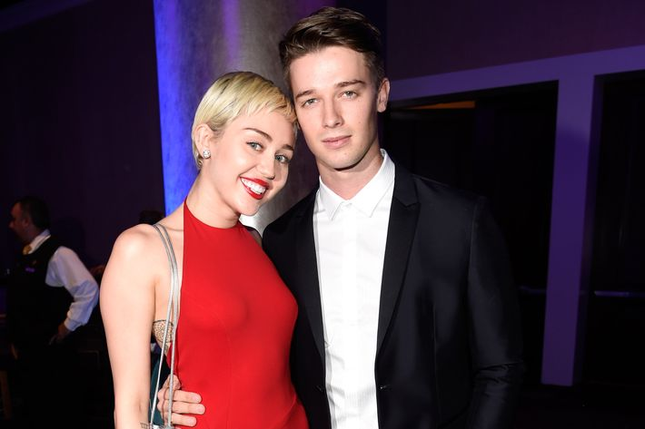 Miley Cyrus is also an M-word. Here she is with Patrick Schwarzenegger.