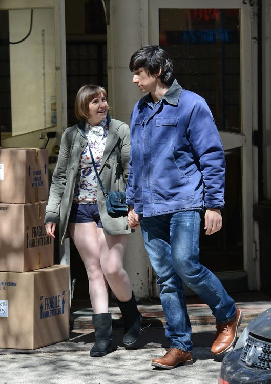 Lena Dunham and Adam Driver film season 4 of 'Girls' in Greenwich Village, NYC.<P>Pictured: Lena Dunham and Adam Driver<P><B>Ref: SPL739025  160414  </B><BR/>Picture by: Anderson / Splash News<BR/></P><P><B>Splash News and Pictures</B><BR/>Los Angeles:	310-821-2666<BR/>New York:	212-619-2666<BR/>London:	870-934-2666<BR/>photodesk@splashnews.com<BR/></P>