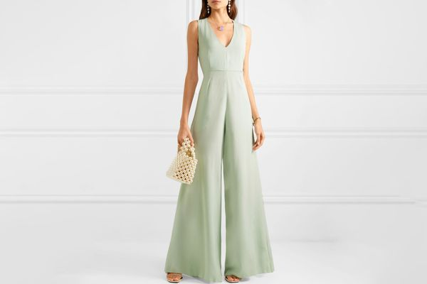 Les Héroïnes by Vanessa Cocchiaro The Nina hammered-satin jumpsuit