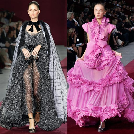 "Pilati told reporters at his show that he'd spent the summer researching Picasso. ""I wanted something more spontaneous and passionate,"" he said. His Spanish influences morphed into flamenco skirts, pom-pom detailing, and brightly colored ruffles. He also showed trim-waisted skinny pants, which became a huge trend that year.  <a href=""http://nymag.com/fashion/fashionshows/2006/spring/main/paris/womenrunway/ysl/"">See the Spring 2006 YSL Collection</a>"