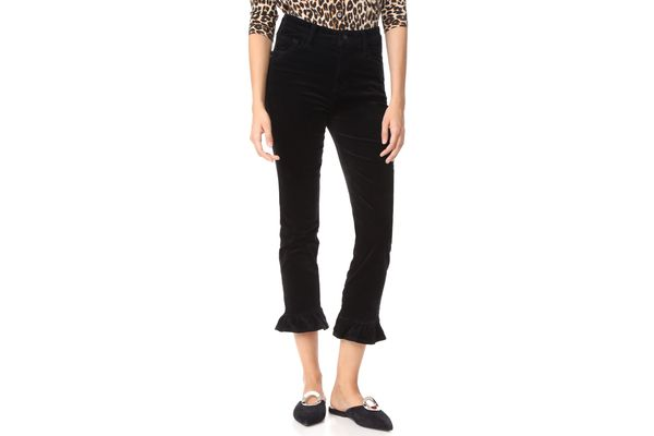 J Brand High Rise Crop Velvet Pants