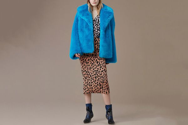 DVF Faux Fur Collared Jacket