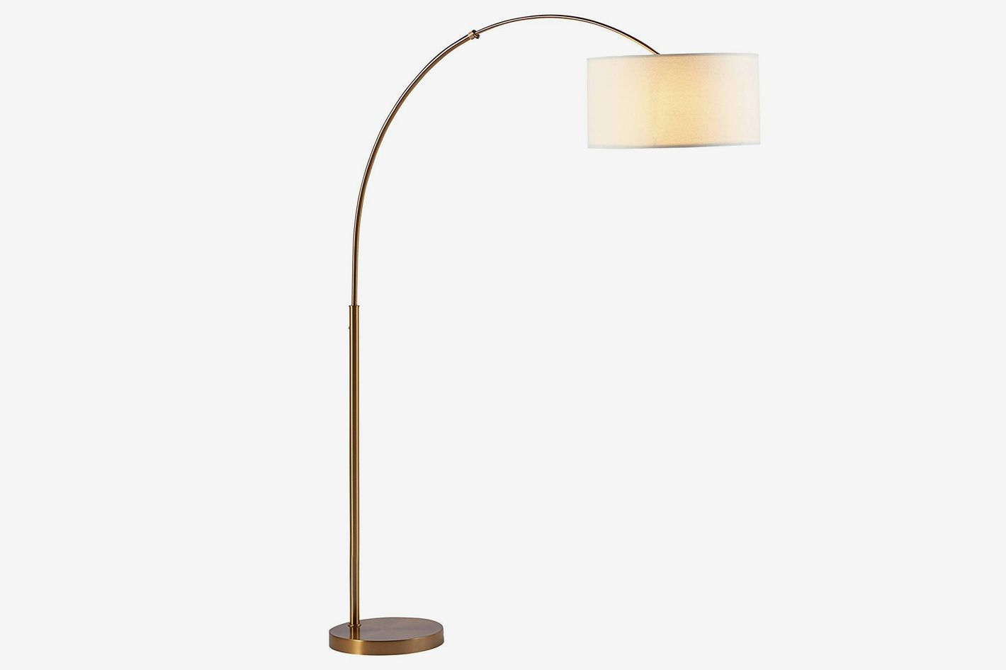 Rivet Brass Arc Floor Lamp