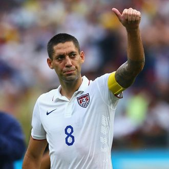 RECIFE, BRAZIL - JUNE 26: Clint Dempsey of the United States acknowledges the fans after being defeated by Germany 1-0 during the 2014 FIFA World Cup Brazil group G match between the United States and Germany at Arena Pernambuco on June 26, 2014 in Recife, Brazil. (Photo by Kevin C. Cox/Getty Images)