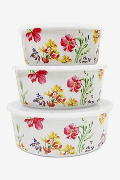 Martha Stewart Collection Floral Nesting Food Storage Containers