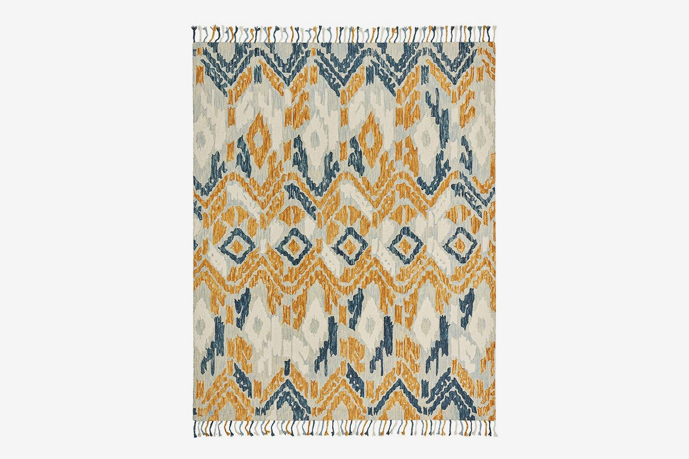 Stone & Beam Modern Global Ikat Wool Area Rug, 5 x 8 Foot