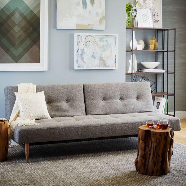 West Elm Mid-Century Full Futon Sofa