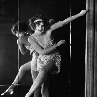 ca. 1920 --- Bee Jackson, the World Champion of the 1920s dance craze 'The Charleston'. --- Image by © Hulton-Deutsch Collection/CORBIS