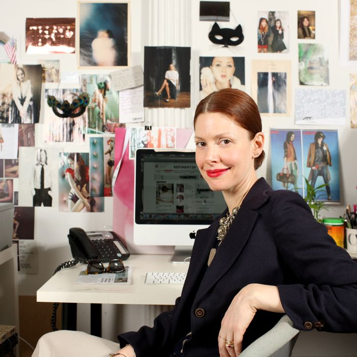 Barberich at the Refinery 29 office.