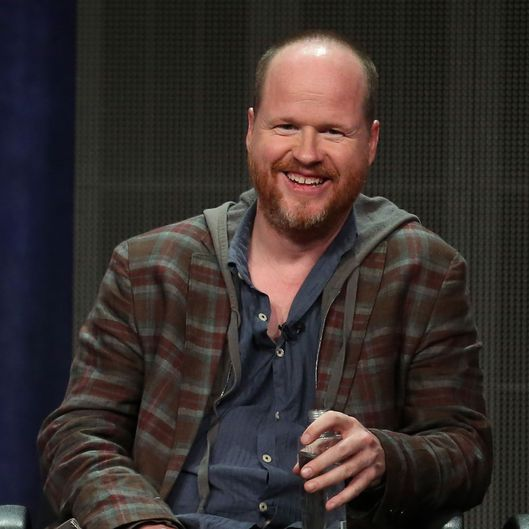 "Joss Whedon speaks onstage during the ""Agents of S.H.I.E.L.D."" panel discussion"