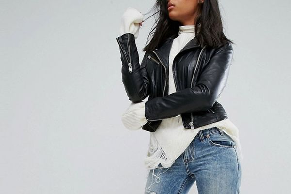 Barneys Leather Jacket With Quilted Detail